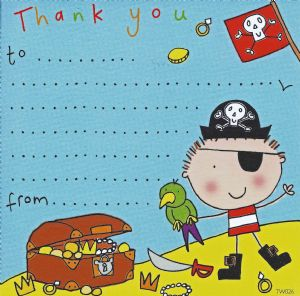 Pirate Thank You Note